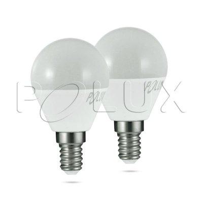 Dwupak 2x Żarówka LED Polux E14 mały gwint G45 3,2W 250lm biała ciepła mleczna