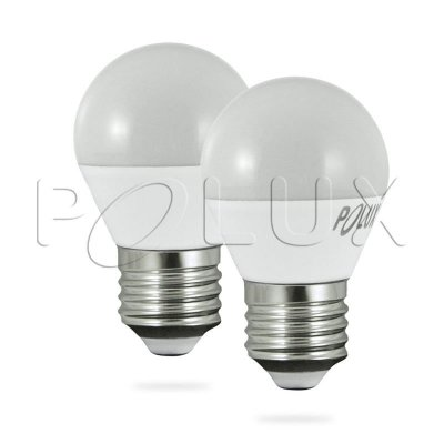 Dwupak 2x Żarówka LED Polux E27 duży gwint G45 3,2W 250lm biała ciepła mleczna