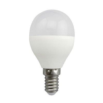 Żarówka LED Polux E14 mały gwint G45 4,9W 400lm biała ciepła mleczna