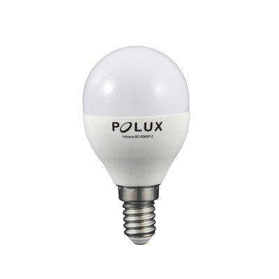 Żarówka LED Polux E14 mały gwint G45 6,3W 560lm biała neutralna mleczna