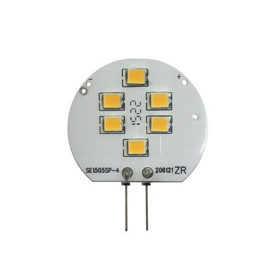 Żarówka LED Polux G4 1,5W 120lm 12V biała ciepła płaska