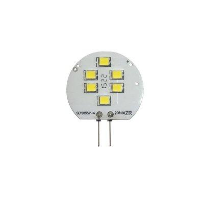 Żarówka LED Polux G4 1,5W 120lm 12V biała zimna płaska