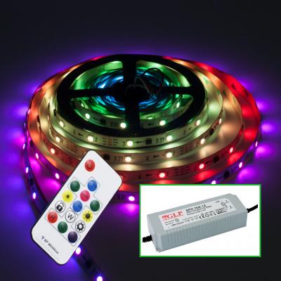 TAŚMA CYFROWA MAGIC LED RGB 150LED 5m +STEROWNIK+ZASILACZ MONTAŻOWY