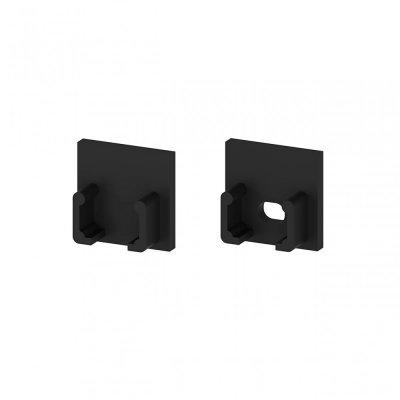 Zaślepki boczne do profili P5-1 C13 czarne (2 sztuki)
