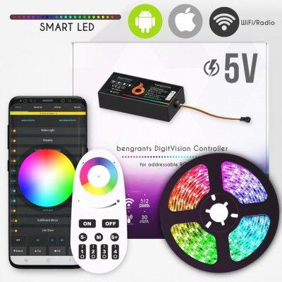 Zestaw Sterownik Bengrants Digit Vision 5V + 5 m taśmy cyfrowej + zasilacz
