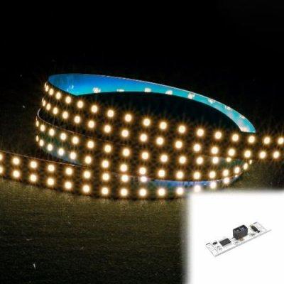 TAŚMA PREMIUM 840 LED / standard / ROLKA 5 m / BIAŁY CIEPŁY 3000K / 140 lm/W / 24V z czujnikiem ruchu