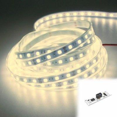 WODOSZCZELNA TAŚMA LED Epistar 300 LED / 5mb / IP68 / NEUTRALNA z czujnikiem ruchu