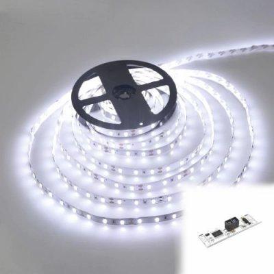 TAŚMA 300 LED / standard / ROLKA 5 m / BIAŁY ZIMNY / 24V z czujnikiem ruchu
