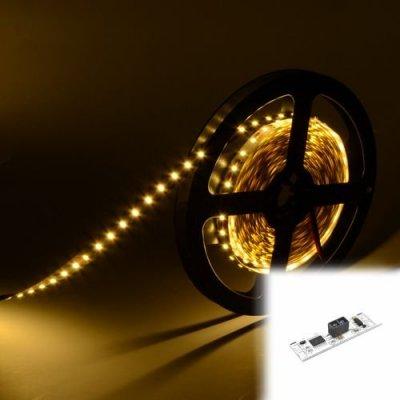 TAŚMA 640 LED / SUPER WYDAJNA 6600LM / ROLKA 5 m / BIAŁY CIEPŁY / 12V z czujnikiem ruchu