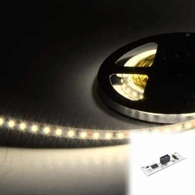 TAŚMA 640 LED / SUPER WYDAJNA 6600LM / ROLKA 5 m / BIAŁY DZIENNY / 12V z czujnikiem ruchu
