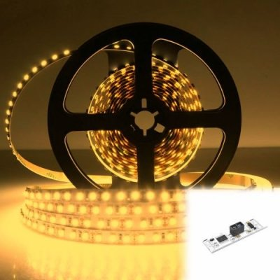 TAŚMA 600 LED / STANDARD / ROLKA 5 m / BIAŁY CIEPŁY z czujnikiem ruchu