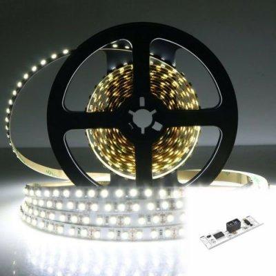 TAŚMA 600 LED / STANDARD / ROLKA 5 m / BIAŁY ZIMNY z czujnikiem ruchu