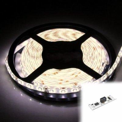 TAŚMA 300 LED / standard / ROLKA 5 m / BIAŁY NEUTRALNY z czujnikiem ruchu