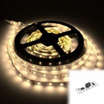 TAŚMA 150 LED / standard / ROLKA 5 m / BIAŁY CIEPŁY z czujnikiem ruchu