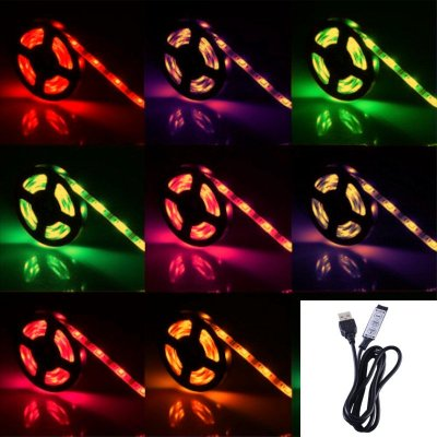 TAŚMA LED RGBW RGB+BIAŁY CIEPŁY w JEDNEJ DIODZIE/ Epistar 5050 150 LED / 2 m / USB