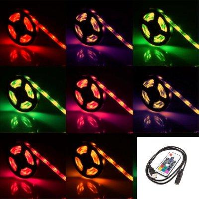 TAŚMA LED RGBW RGB+BIAŁY CIEPŁY w JEDNEJ DIODZIE/ Epistar 5050 150 LED / 2 m / USB / sterowana radiowo