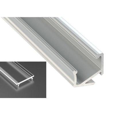 Profil LED Kątowy typu H surowy z kloszem transparentnym 2m