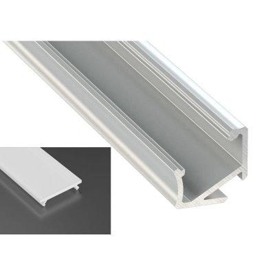 Profil LED Kątowy typu H surowy z kloszem mlecznym 2m