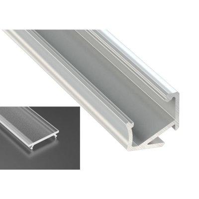 Profil LED Kątowy typu H surowy z kloszem frosted 2m