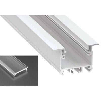 Profil LED architektoniczny wpuszczany inTALIA biały lakierowany z kloszem frosted 2m