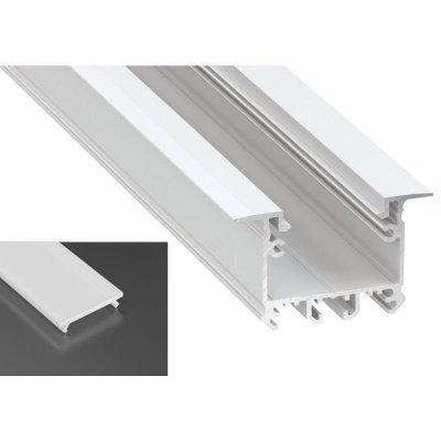 Profil LED architektoniczny wpuszczany inTALIA biały lakierowany z kloszem mlecznym 2m