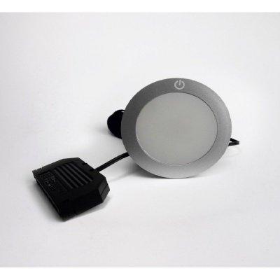 Oprawa dekoracyjna nawierzchniowa 2,3W 130lm 12V z włącznikiem dotykowym i gniazdem AMPIII zimna