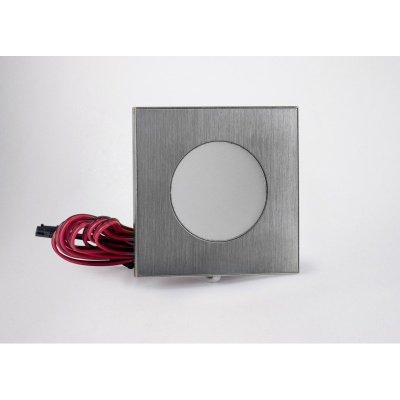 Oprawa dekoracyjna nawierzchniowa 3W 100lm 12V kwadratowa ciepła