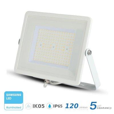 Naświetlacz V-TAC biały 100W 12000lm SAMSUNG CHIP SLIM 6400K IP65 120lm/W