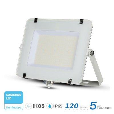 Naświetlacz V-TAC biały 150W 18000lm SAMSUNG CHIP SLIM 6400K IP65 120lm/W