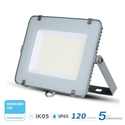 Naświetlacz V-TAC szary 150W 18000lm SAMSUNG CHIP SLIM 6400K IP65 120lm/W