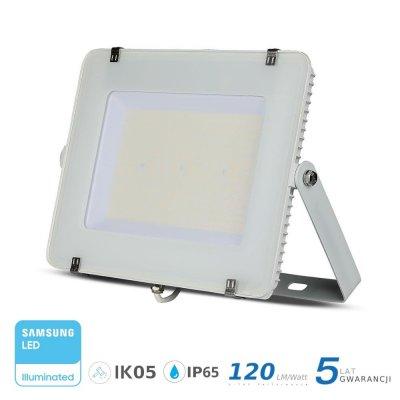 Naświetlacz V-TAC biały 200W 24000lm SAMSUNG CHIP SLIM 6400K IP65 120lm/W