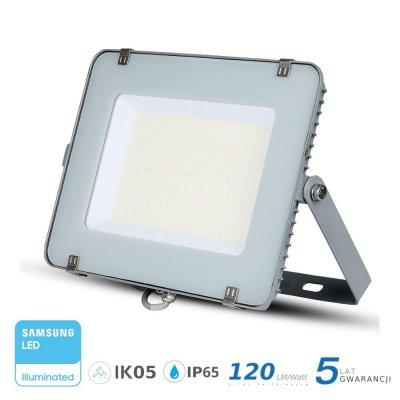 Naświetlacz V-TAC szary 200W 24000lm SAMSUNG CHIP SLIM 6400K IP65 120lm/W