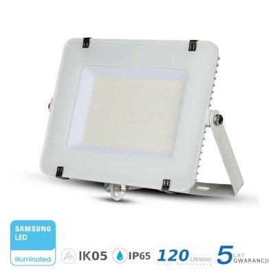 Naświetlacz V-TAC biały 300W 36000lm SAMSUNG CHIP SLIM 6400K IP65 120lm/W