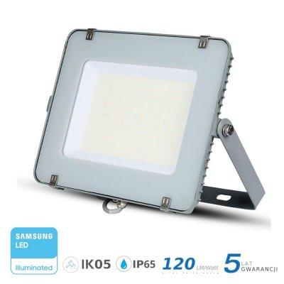 Naświetlacz V-TAC szary 300W 36000lm SAMSUNG CHIP SLIM 6400K IP65 120lm/W