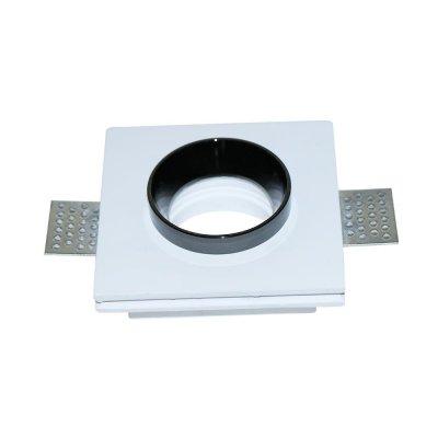 Oprawa kwadratowa GU10 gipsowa wpuszczana biały/czarny 5 lat gwarancji do płyt g-k