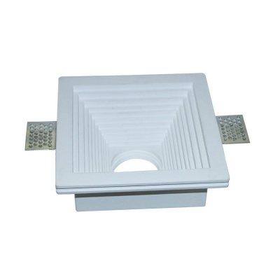 Oprawa kwadratowa do płyt g-k GU10 gipsowa wpuszczana biała 120x120 5 lat gwarancji