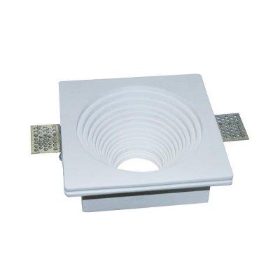 Oprawa kwadratowa do płyt g-k GU10 gipsowa wpuszczana biała ⌀120 5 lat gwarancji