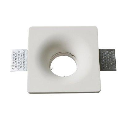 Oprawa kwadratowa do płyt g-k GU10 gipsowa wpuszczana biała gładka 120x120 5 lat gwarancji