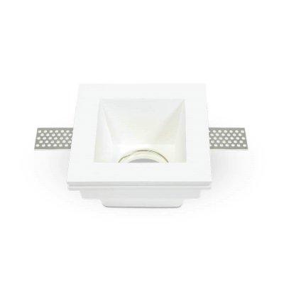 Oprawa kwadratowa do płyt g-k GU10 gipsowa wpuszczana biała głęboka 120x120x50 5 lat gwarancji