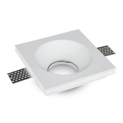Oprawa kwadratowa do płyt g-k GU10 gipsowa wpuszczana biała głęboka 120x120 5 lat gwarancji
