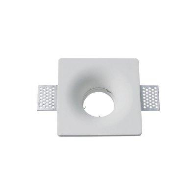Oprawa kwadratowa do płyt g-k GU10 gipsowa wpuszczana biała gładka 103x103 5 lat gwarancji