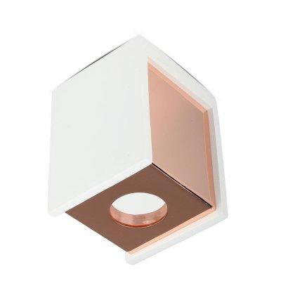 Oprawa sufitowa natynkowa GU10 kwadratowa gips biała/różowe złoto 5 lat gwarancji