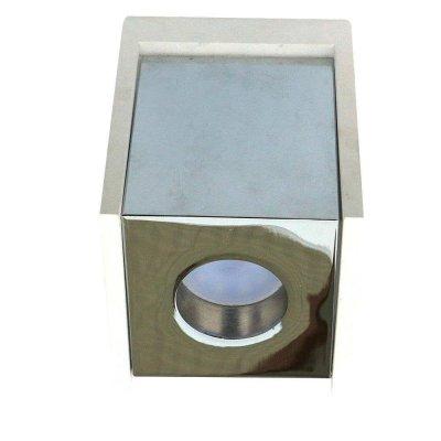 Oprawa sufitowa natynkowa GU10 kwadratowa gips biała/chrom 5 lat gwarancji