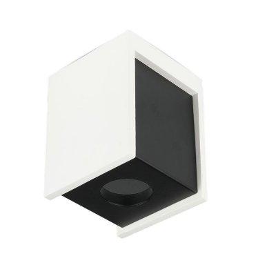 Oprawa sufitowa natynkowa GU10 kwadratowa gips biała/czarny 5 lat gwarancji
