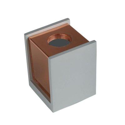 Oprawa sufitowa natynkowa GU10 kwadratowa beton szary/różowe złoto 5 lat gwarancji