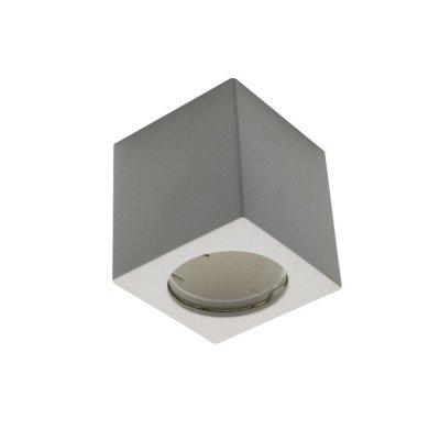 Oprawa sufitowa natynkowa GU10 kwadratowa gips biała kostka 70x70x75mm