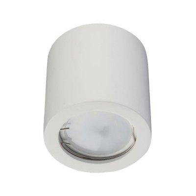 Oprawa sufitowa natynkowa GU10 okrągła tuba 70x75mm GIPS - biała