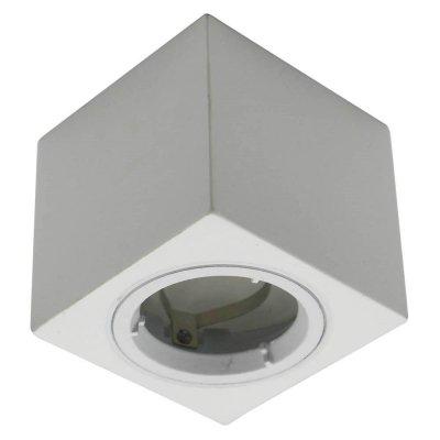 Oprawa sufitowa natynkowa GU10 kwadratowa gips/aluminium biały sześcian 75x75x75mm