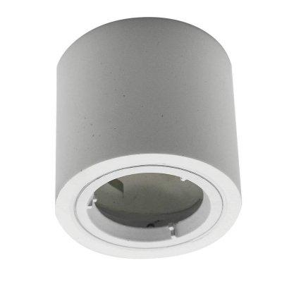 Oprawa sufitowa natynkowa GU10 okrągła tuba 70x75mm GIPS/ALU - biała