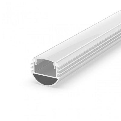 Profil P8-1 do poświetlania szaf LED biały lakierowany z kloszem mlecznym 2m